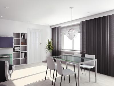 Harmonikaajtó elegáns belső térben - nappali ötlet, modern stílusban