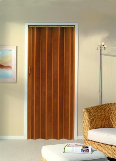 Harmonikaajtó natúr felülettel - nappali ötlet, modern stílusban