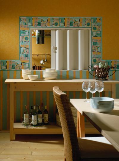 Harmonikaajtó kicsi helyen - konyha / étkező ötlet, klasszikus stílusban