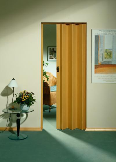 Egyszerű harmonikaajtó - nappali ötlet, modern stílusban