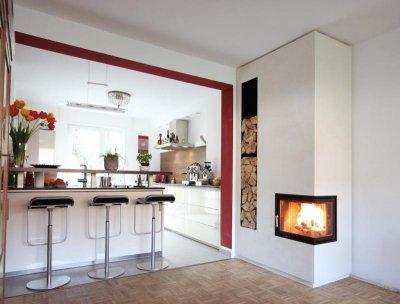 HOXTER ECKA 50/35/45 minimál sarokkandalló - konyha / étkező ötlet, modern stílusban