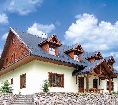 BMI Villas hódfarkú zsindelyfedés - tető ötlet, rusztikus stílusban
