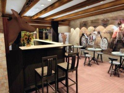 Wild West Western hotel kávézója - konyha / étkező ötlet