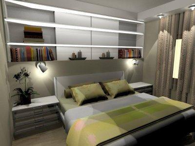 Hálószoba - háló ötlet, minimál stílusban