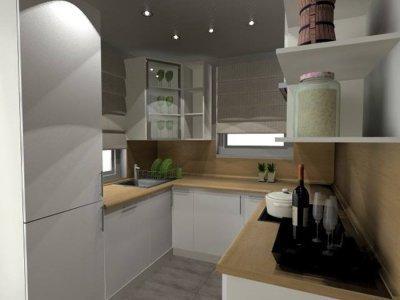 Konyharészlet - konyha / étkező ötlet, minimál stílusban