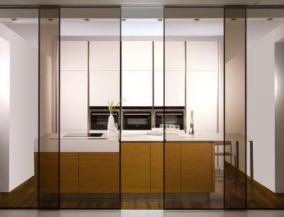Alu tolóajtó - konyha / étkező ötlet, modern stílusban
