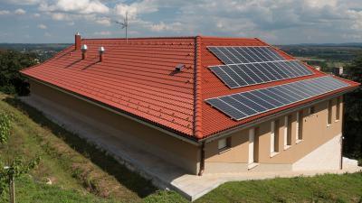 Klasszikus tető hagyományos cserepekkel - tető ötlet, klasszikus stílusban