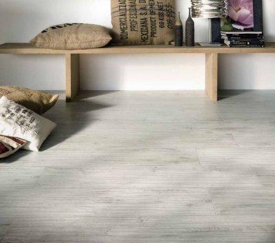 Csempepont - DOM Ceramiche Logwood - nappali ötlet, rusztikus stílusban