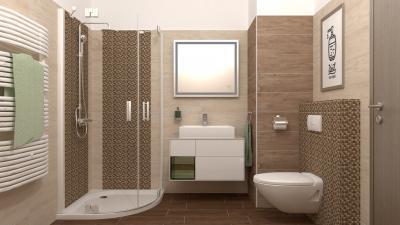 Elegáns hidegburkolatok a fürdőszobában - fürdő / WC ötlet, modern stílusban