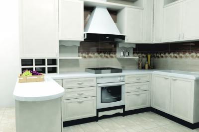 Kávészínű csempe a falon - konyha / étkező ötlet, modern stílusban