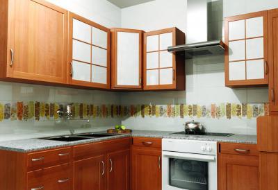 Dekoratív csempe a konyhában - konyha / étkező ötlet, modern stílusban