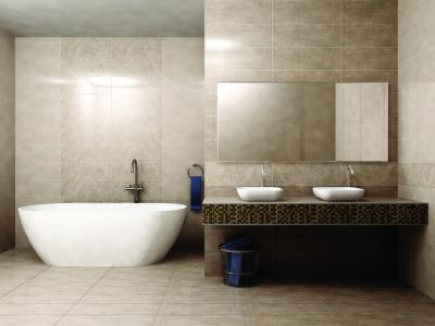 Minimál fürdő egységes burkolattal - fürdő / WC ötlet, minimál stílusban