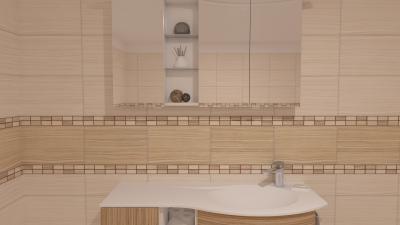 Csempék hasonló tónusban - fürdő / WC ötlet, modern stílusban