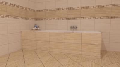 Egységes burkolatok padlón és falon - fürdő / WC ötlet, modern stílusban