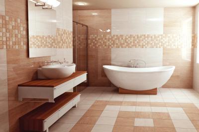 Modern mediterrán hatású burkolatok - fürdő / WC ötlet, modern stílusban