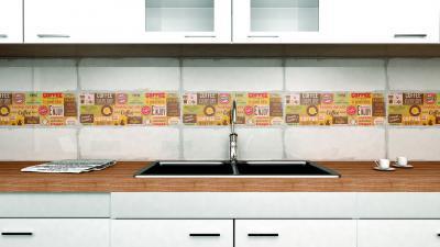 Stílus csempe dekor csík - konyha / étkező ötlet, modern stílusban