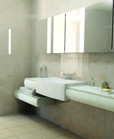 Mintás falicsempe a fürdőben - fürdő / WC ötlet, modern stílusban