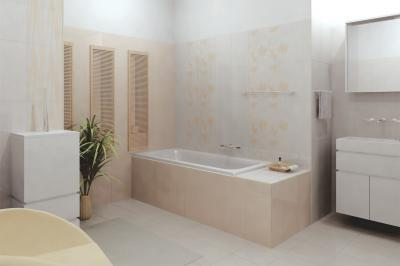 Sima és mintás falicsempék - fürdő / WC ötlet, modern stílusban