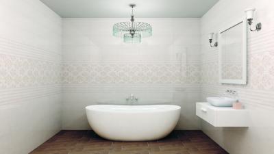 Látványos csempe a fürdőben - fürdő / WC ötlet, modern stílusban