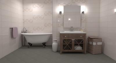Virágmintás csempe - fürdő / WC ötlet, klasszikus stílusban
