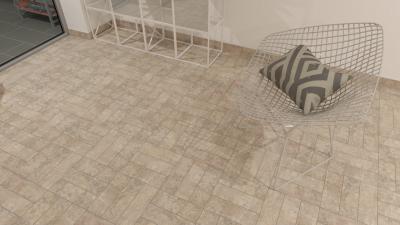 Kőhatású burkolat a teraszon - erkély / terasz ötlet, modern stílusban