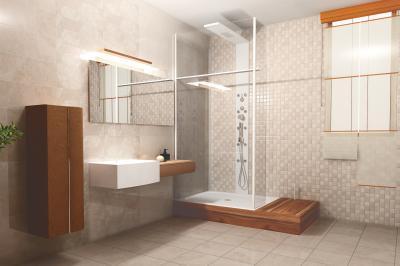 Hidegburkolatok világos színekben - fürdő / WC ötlet, modern stílusban