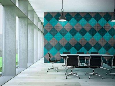Akusztikus panel - dolgozószoba ötlet, modern stílusban