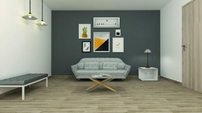 Fahatású hidegburkolat a nappaliban - nappali ötlet, modern stílusban