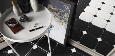 Csempepont - Equipe Octagon - nappali ötlet, modern stílusban
