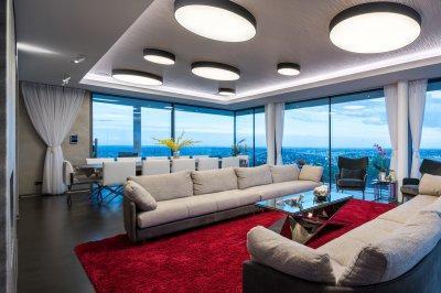 Modern mennyezeti lámpák - nappali ötlet, modern stílusban