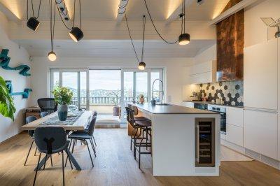 Különleges megvilágítás - konyha / étkező ötlet, modern stílusban