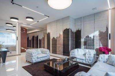Modern megvilágítás - nappali ötlet, modern stílusban