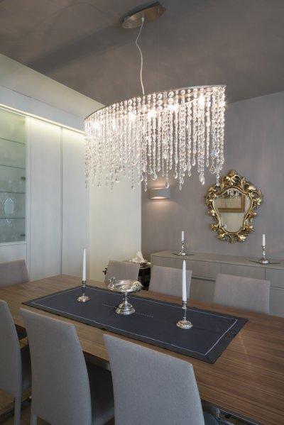 Klasszikus stílusú kiristály csillár - konyha / étkező ötlet, klasszikus stílusban
