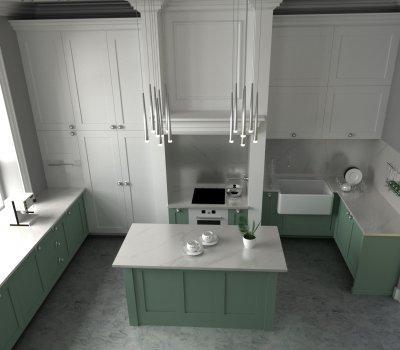 Klasszikus konyha - konyha / étkező ötlet, modern stílusban