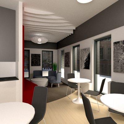 Irodai étkező és lounge - konyha / étkező ötlet, modern stílusban