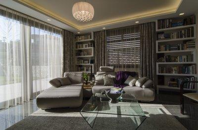 Hangulatos mennyezeti lámpa - nappali ötlet, modern stílusban