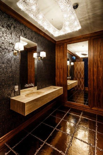 Kristály mennyezeti lámpa - fürdő / WC ötlet, klasszikus stílusban