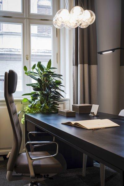 Egyedi mennyezeti lámpa - dolgozószoba ötlet, modern stílusban