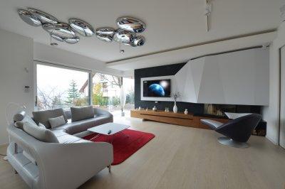 Szenzációs mennyezeti lámpa - nappali ötlet, modern stílusban