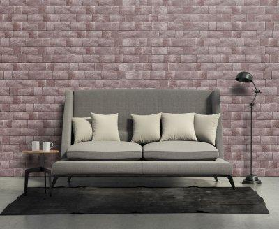Téglamintás parafa falburkolat - Korkstone - nappali ötlet, modern stílusban