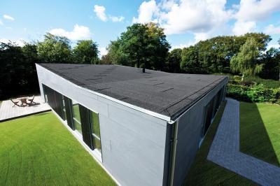 Lapostető rendszer modern lakóházon - tető ötlet, modern stílusban