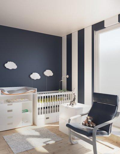 Fiú kisbaba szobája - gyerekszoba ötlet, modern stílusban
