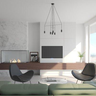 Letisztult modern nappali - nappali ötlet, modern stílusban