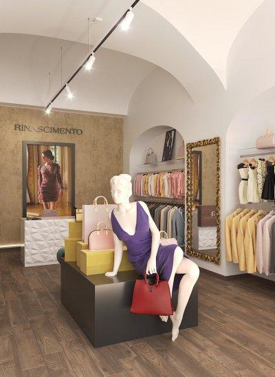 Olasz divatüzlet - előszoba ötlet, modern stílusban