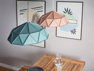 Egyedi mennyezeti lámpák - konyha / étkező ötlet, modern stílusban