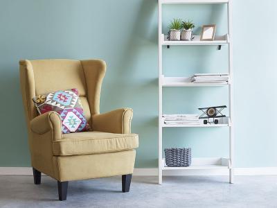 Kényelmes, füles fotel - nappali ötlet