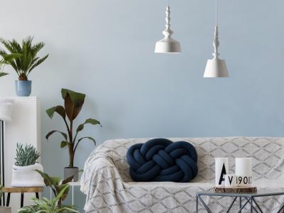 Design függeszték a nappaliban - nappali ötlet, modern stílusban