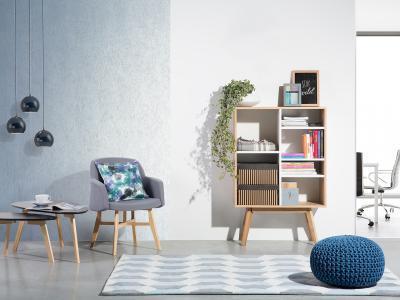 Praktikus polcos tároló - nappali ötlet, modern stílusban