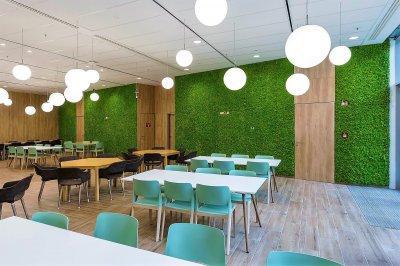 Telekom Székház - konyha / étkező ötlet, modern stílusban