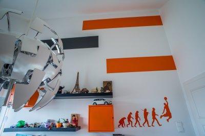 falfestés gyerekszoba - gyerekszoba ötlet, modern stílusban